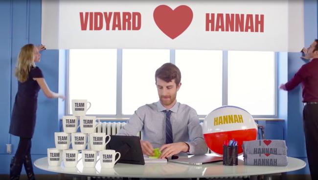 Vidyard's Account based marketing video example