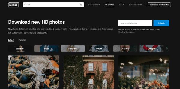 Burst Stock Images