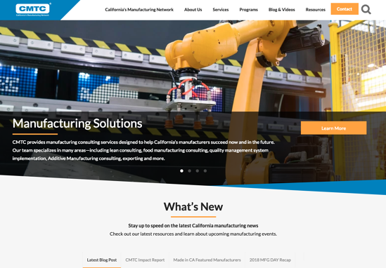 CMTC homepage 2019