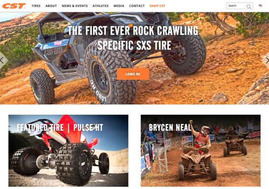 CST Tires homepage 2019
