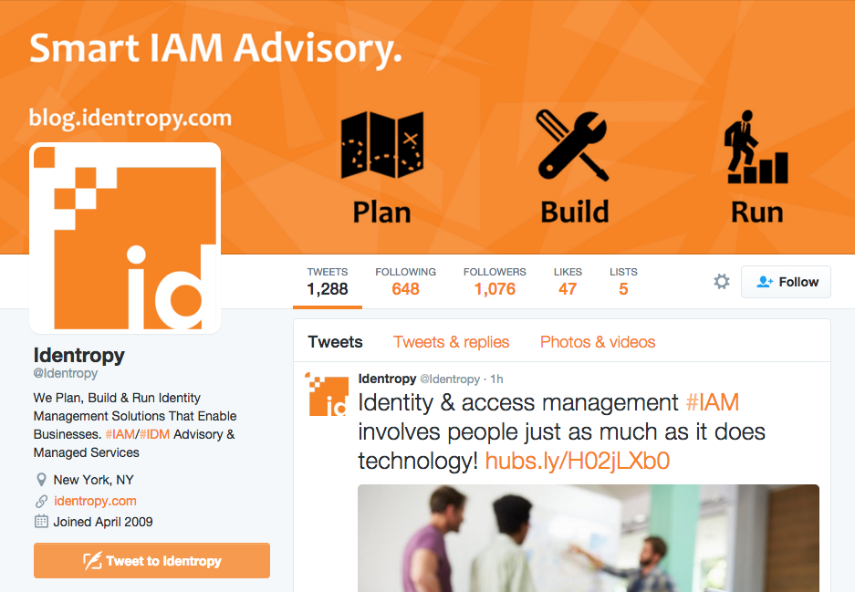Identropy's social calendar and scheduled posting contributed to an increase in followers