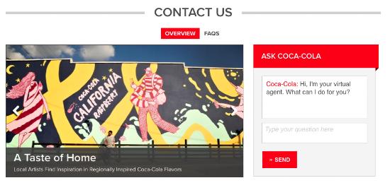 Coca Cola Contact Us Page