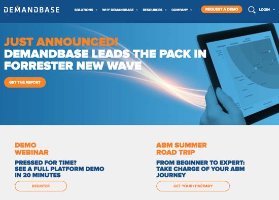 Demandbase Homepage