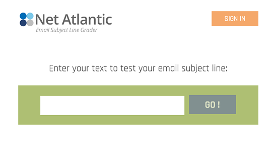 Email Subject Line Grader homepage