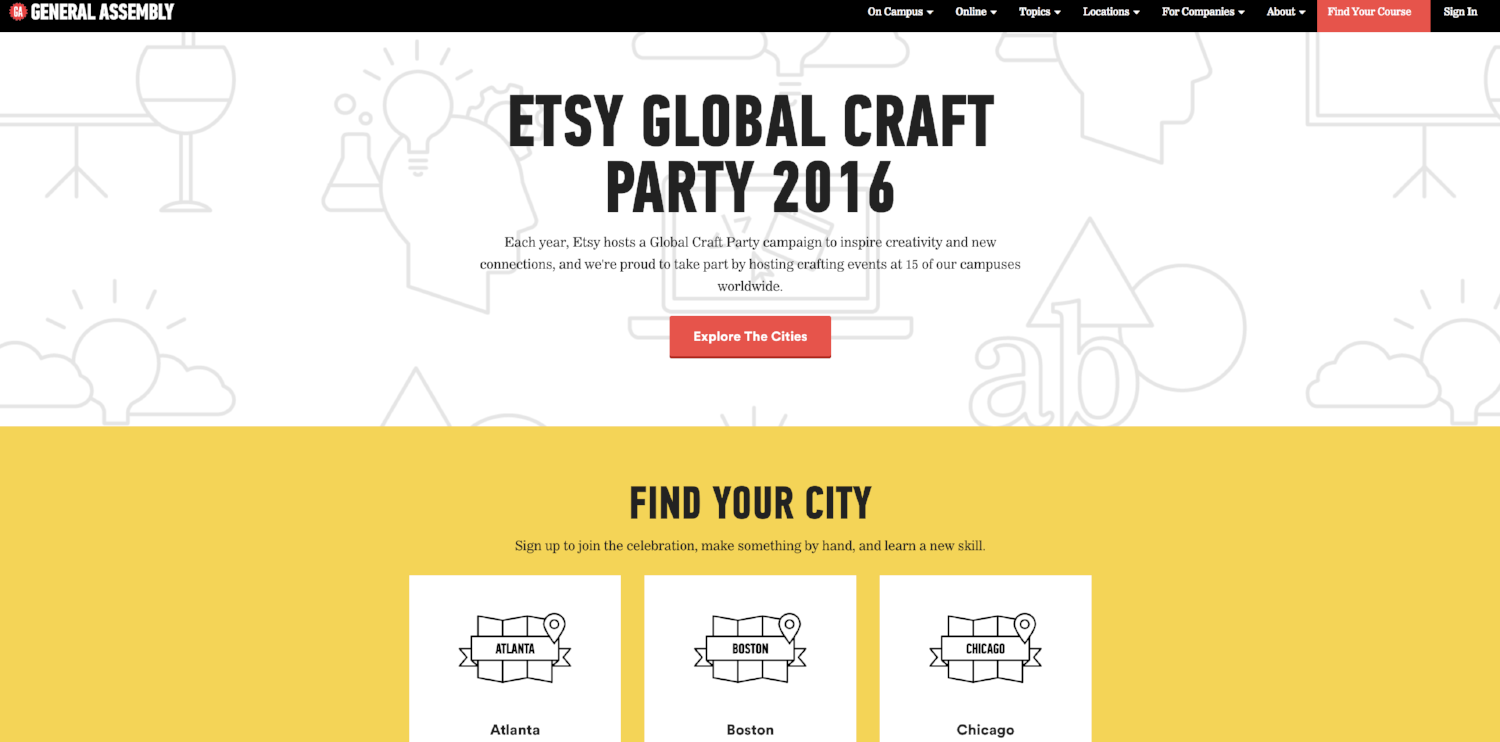 Etsy General Assembly