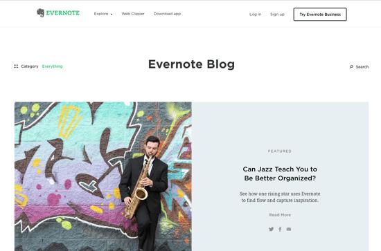 Evernote Blog