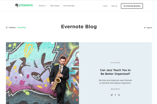 Evernote Blog