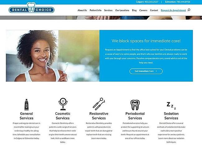 dental choice services page