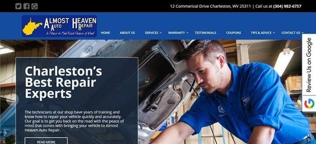 almost heaven auto repair services page
