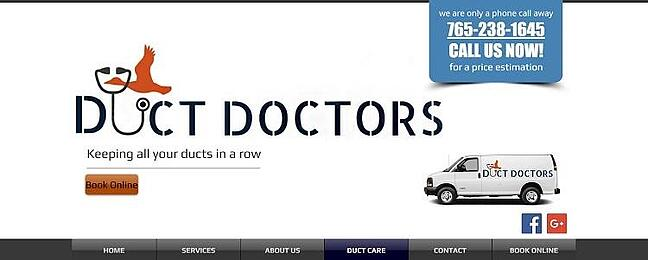 duct doctors services page