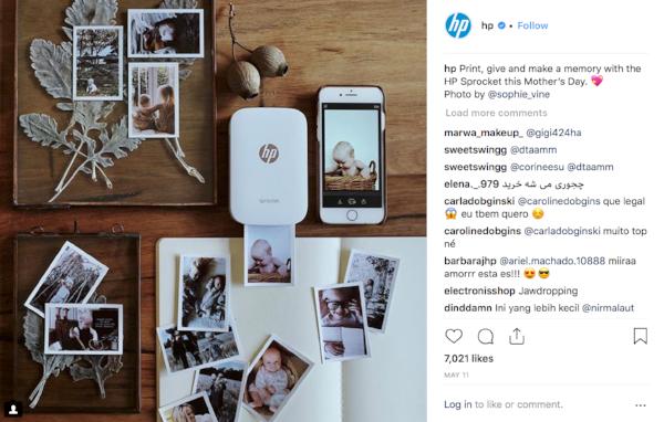 HP instagram photo