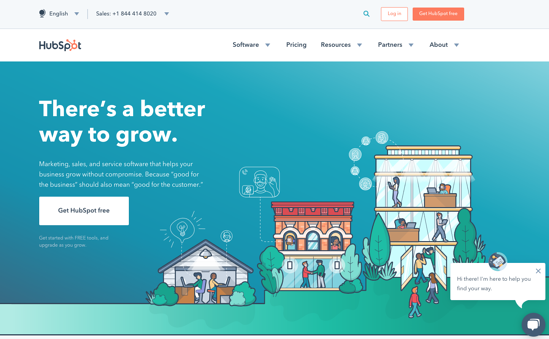 HubSpot Homepage Nov 2018