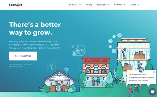 HubSpot homepage 2019