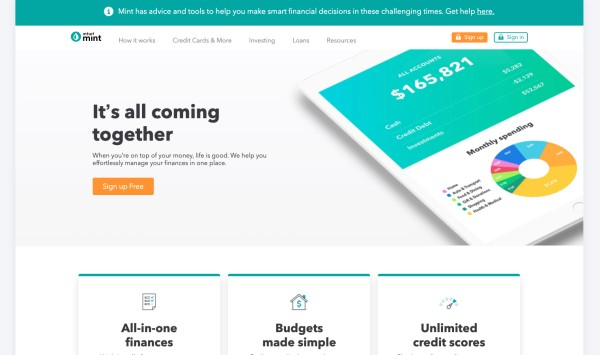 Intuit-MINT-Homepage-2020