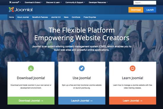 Joomla homepage 2019