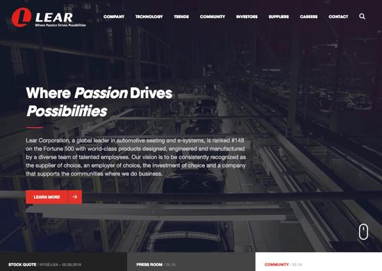Lear homepage 2019