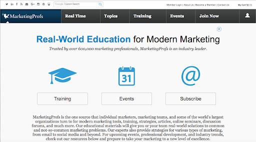 MProfs Homepage 12