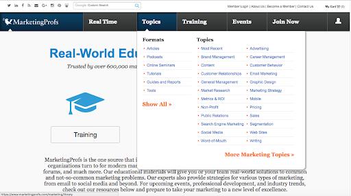 MProfs Homepage 22