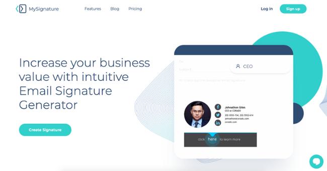 MySignature homepage