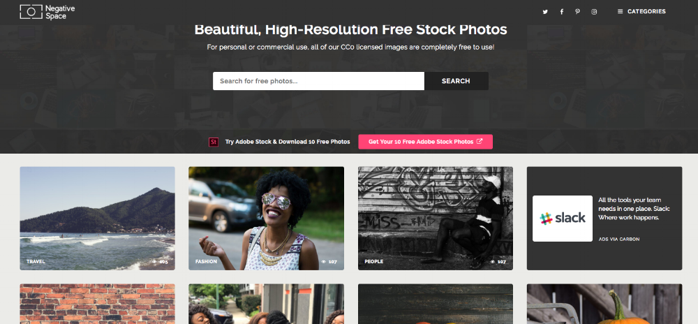 NegativeSpace Stock photos Screenshot