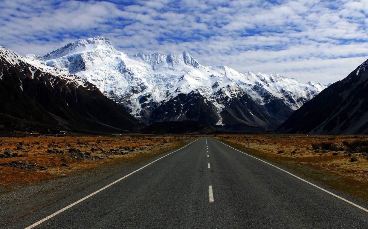 Road to a Mountain