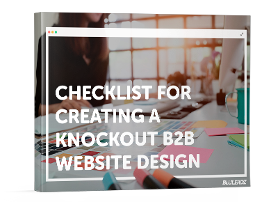 b2b web design checklist 3d cover