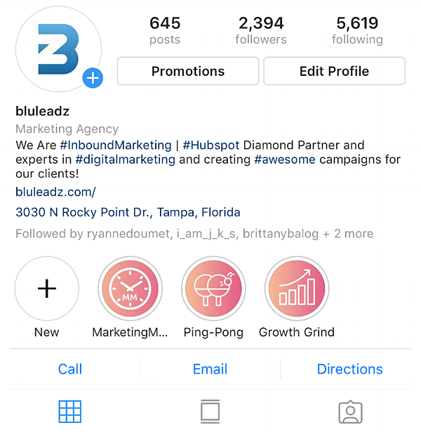 Optimizing Instagram Bio for your business