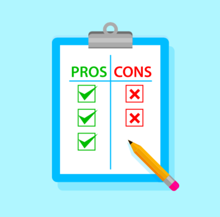 Pros and Cons graphic