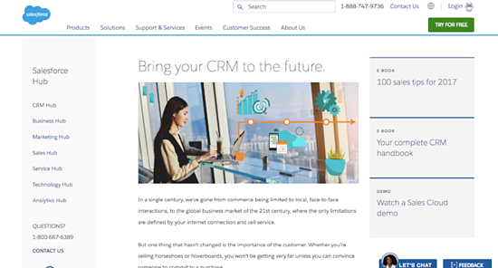 Salesforce for CRM