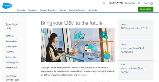 Salesforce-CRM-homepage-2019
