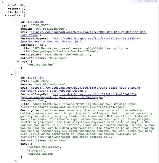 Hubspot Search API Endpoint