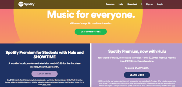 Spotify B2C Marketing