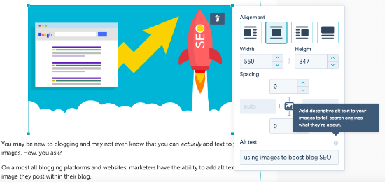 using images to boost blog SEO
