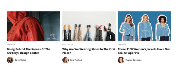 Zappos blog screenshot