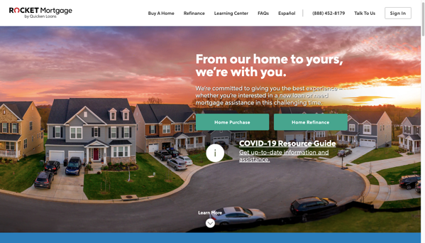 rocket mortgage homepage