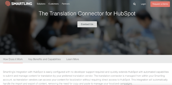 Smartling HubSpot Integration