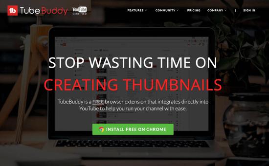 TubeBuddy homepage 2019
