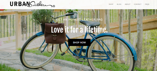 Urban Southern home page_above the fold