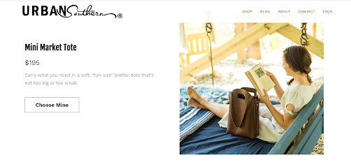Urban Southern home page_product