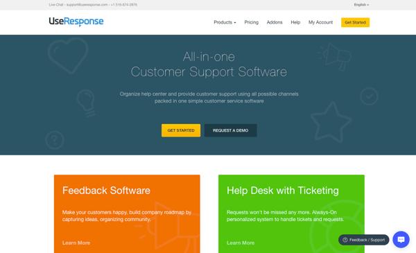 UseResponse homepage 2019