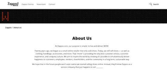 Zappos Mission Statement