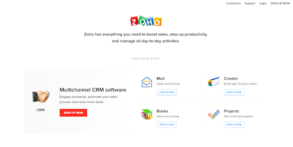 Zoho for CRM