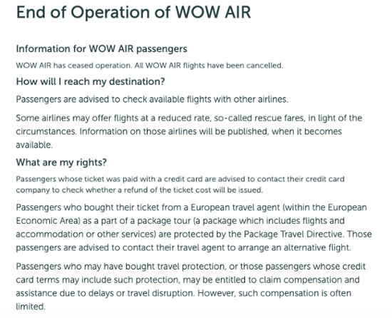 WOW Air displays terrible customer service