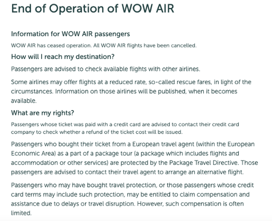 WOW Air displays terrible customer service