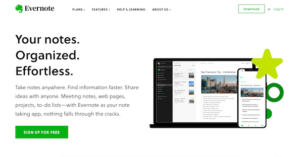 evernote homepage-1