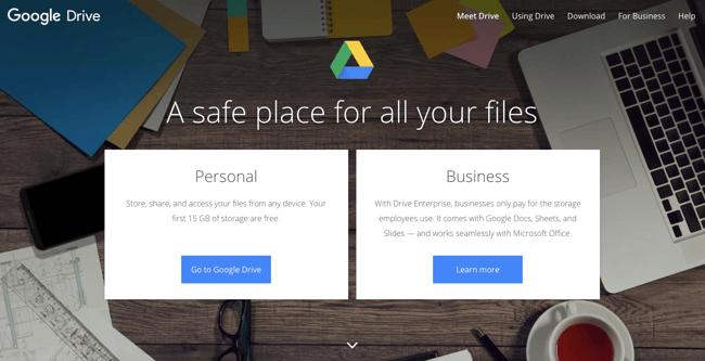 google-drive-homepage