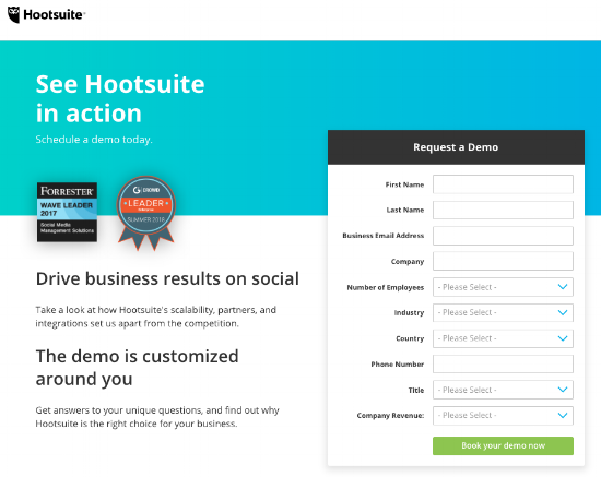 6 Kickass 'Request a Demo' Page Examples