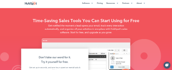 hubspot-sales-page