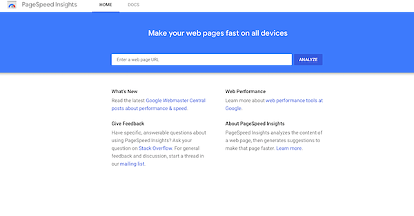 page-speed-insights-homepage