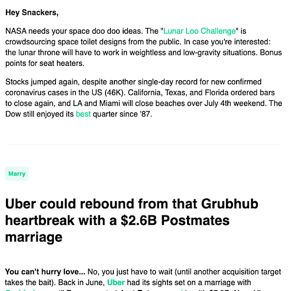 robinhood-newsletter-headlines